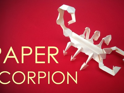 How to make easy and quick paper scorpion - by vyouttar origami -