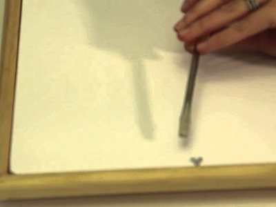 How to Use Glazing Points & Picture Frames : Picture Frame Crafts