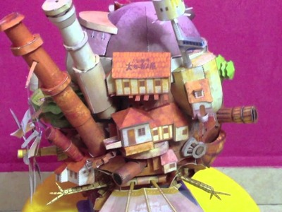 Howl's Moving Castle Papercraft Flying Version