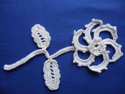 Irish Crochet Lace, spiral flower