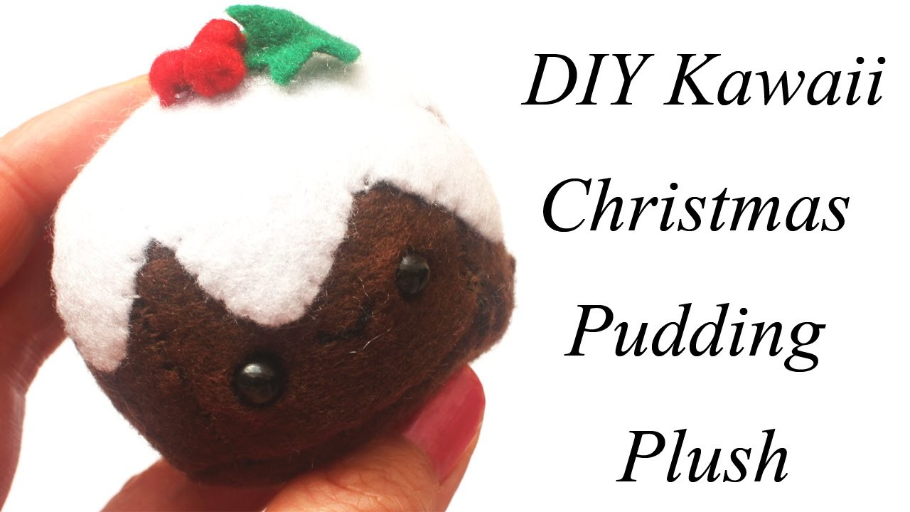 Kawaii Christmas Pudding Plush Tutorial - How To