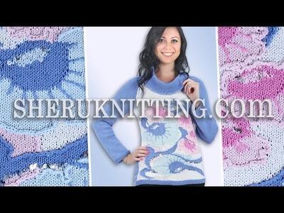 Knitting Floral Sweater Model 18  Knitting Jacquard Pattern