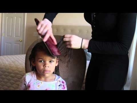 Little Girl Curly Mixed Hair Tutorial Spring 2015