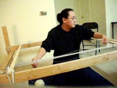 Navajo Weaving- Warping  Loom