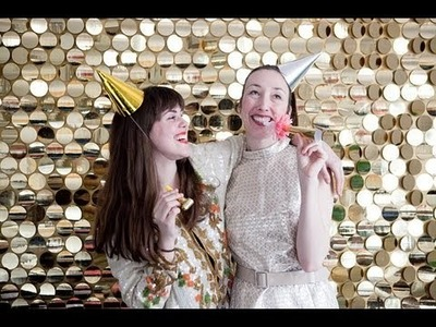 Oh Happy Day - Sequin Photobooth Backdrop DIY