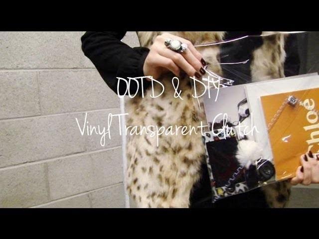 OOTD & DIY Vinyl Transparent Clutch