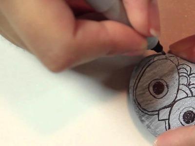 Owl Paper weight rocks - ♥ DIY