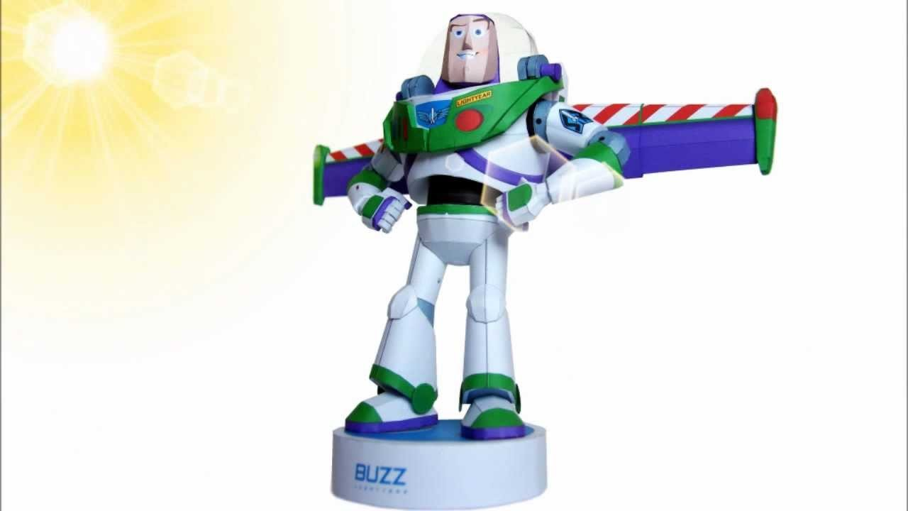 Papercraft - Buzz Lightyear - Stop Motion