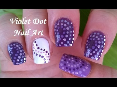 Purple & Violet Dot Nail Art Tutorial - DIY Three Easy Nail Designs