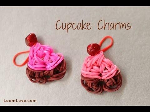 Rainbow Loom Cupcake Charm
