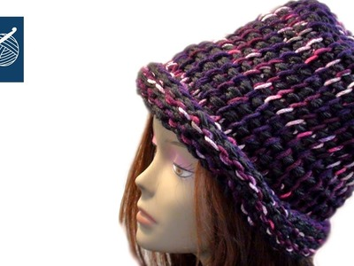 REVERSIBLE CROCHET HAT with Tunisian Crochet - Lefty Crochet Geek