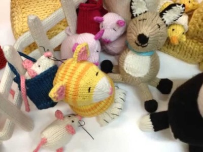 Spud and Chloe at the Farm Book Knitting Stop Animation Video