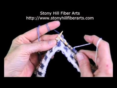Stranded Knitting - Catching the Floats, Continental. Scooping Method Part 2
