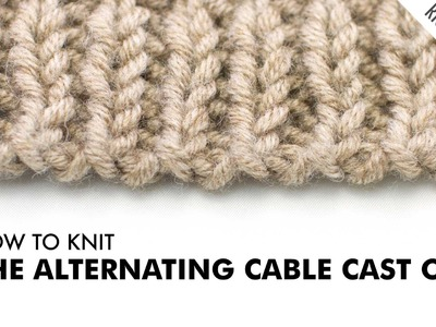 The Alternating Cable Cast On :: Knitting Technique :: Right Handed