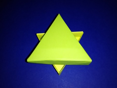 Triangular gift box. Origami exclusive gift box. No templates. Ideas for  Easter
