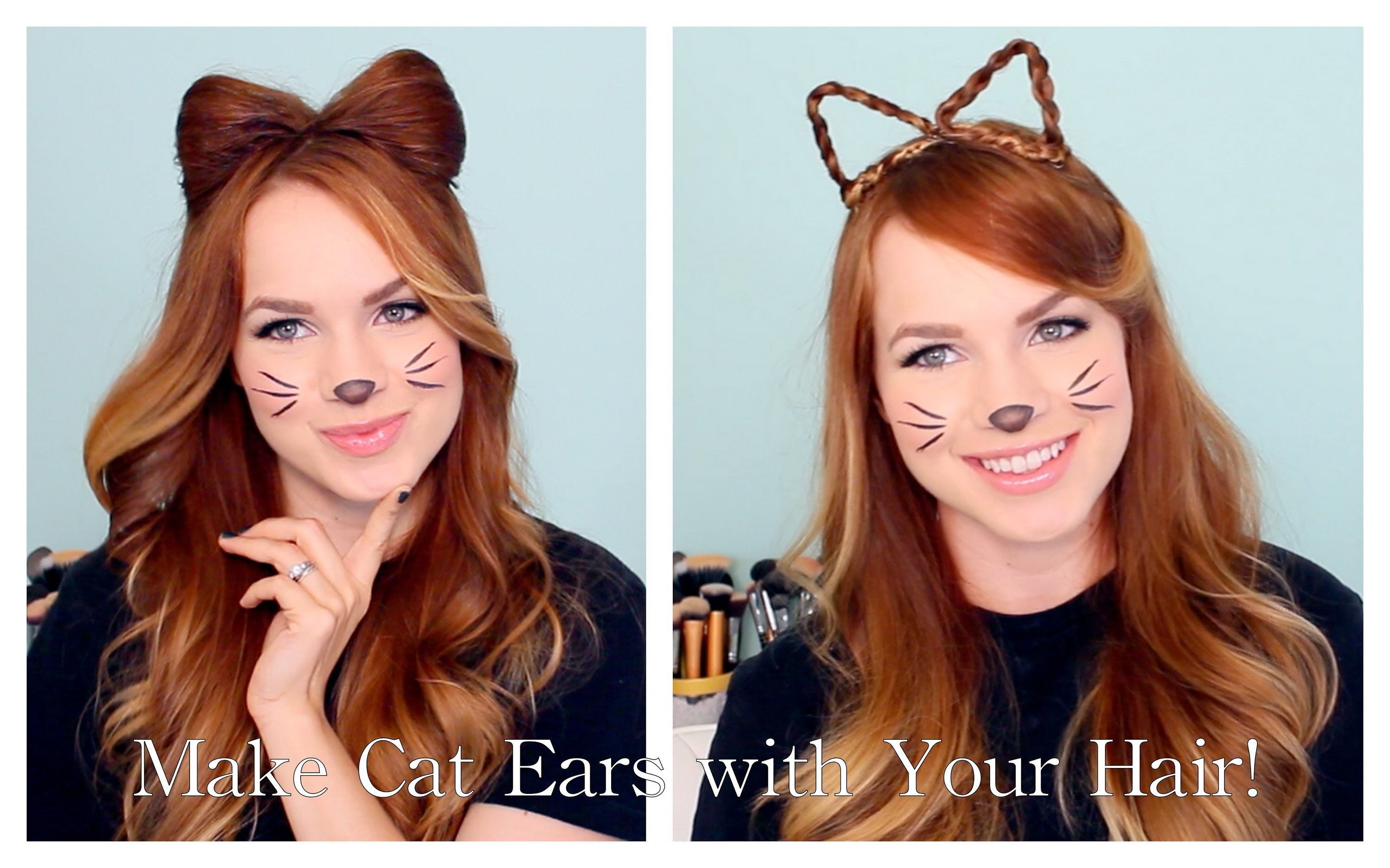 2 Ways to Make Cat Ears with Your Hair!