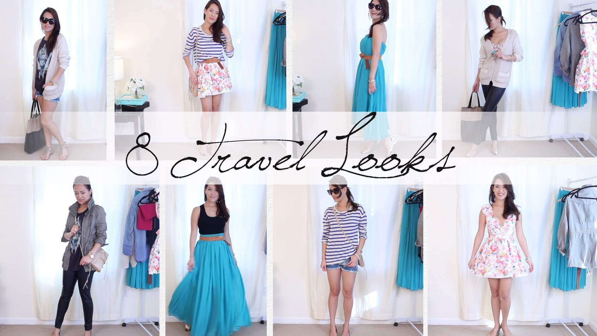8 Outfits 1 Carryon Suitcase - Vacation Outfit Ideas   ANNEORSHINE
