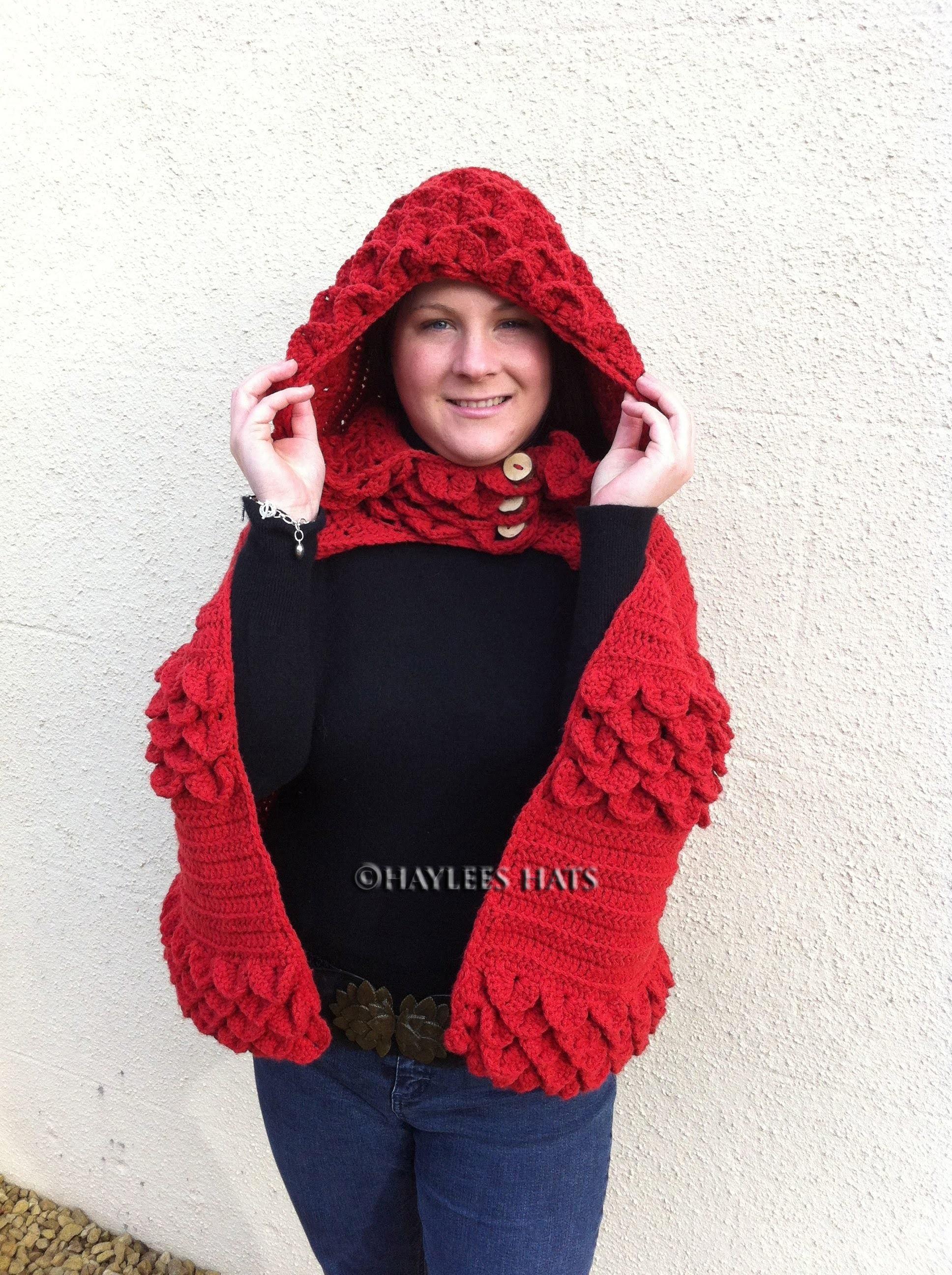 Adult Cape, head scarf, infinity scarf , lady bug set |Fresh off tha hook | Haylees Hats