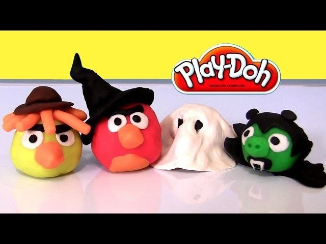 Angry Birds Play Doh Halloween Costumes 2013 Trick or Treat with play dough by Disneycollector