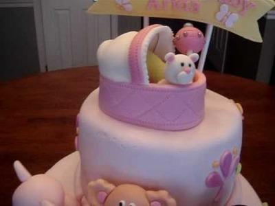 Baby Shower Fondant Cake