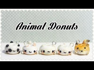 Cat, Bunny, Panda and Fox donut | Polymer Clay Tutorial