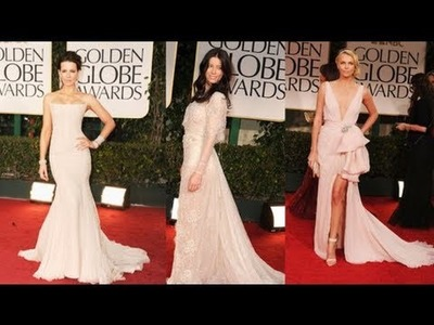 Champagne Gowns Dominate the Red Carpet at the 2012 Golden Golden Globes
