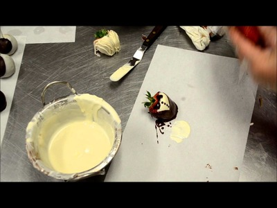 Chocolate covered strawberry tutorial - How to design and make chocolate strawberries
