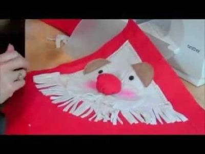Christmas Santa cushion by Debbie Shore
