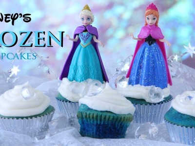 Disney's FROZEN Cupcakes (Super Easy!) - Vanilla Cupcake w. Buttercream Frosting!