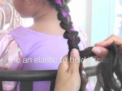 "Disney's ""Tangled"" Princess Hair Tutorial"