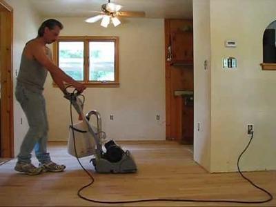 DIY 108 - Refinishing wood floors - Sanding - part 2 of 3