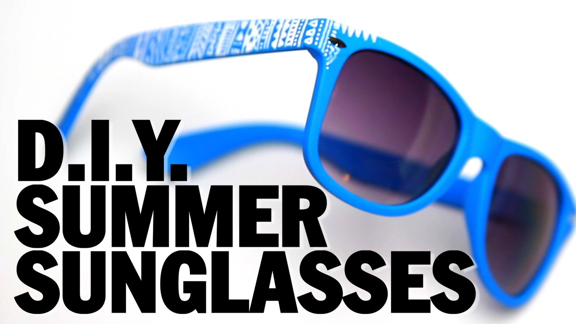 DIY SUMMER SUNGLASSES! - Threadbanger
