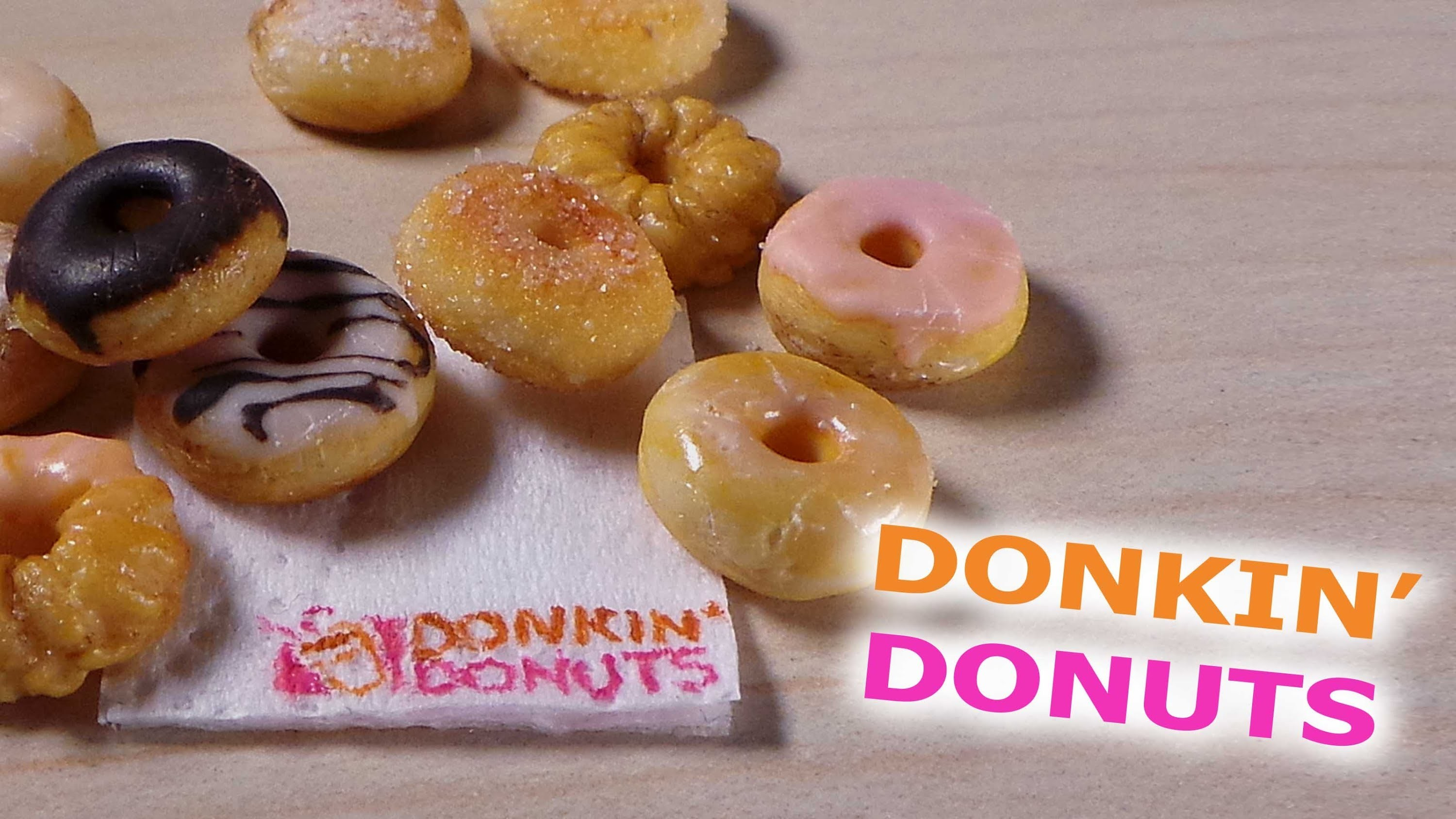 Easy; Dunkin' Donuts Inspired - Polymer Clay Tutorial