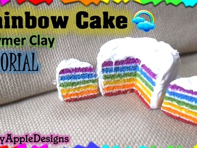EASY Miniature Polymer Clay Rainbow Cake Tutorial