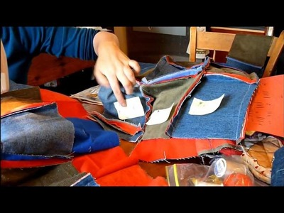 Extreme Rag Quilting : Recycling old Jean Denim! -  with Sherri !
