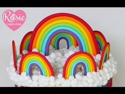 Fondant Rainbow Tutorial - How to make a Rainbow Cake Topper
