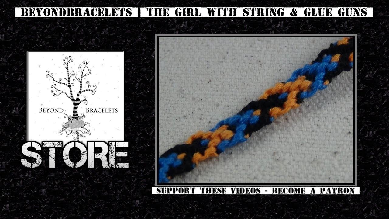 ► Friendship Bracelet Tutorial - Beginner - The Nesting Wishbone