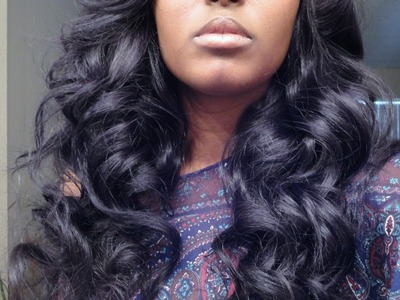 Get some BIG CURLS in your hair girl! flexi rods on my brazilian wavy!