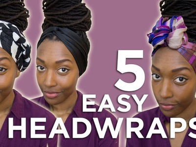 Hairstyle Tutorial: 5 Easy Head-Wraps