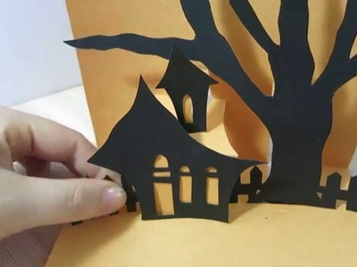 Halloween Card - How To Make Pop Up Card For Halloween