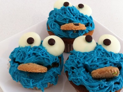 How to decorate cookie monster cupcakes tutorial how to cook that ann reardon