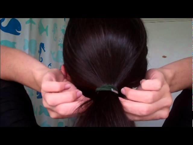 HOW TO easy CHIGNON bun 60's volume style RETRO hair (2012 2013)