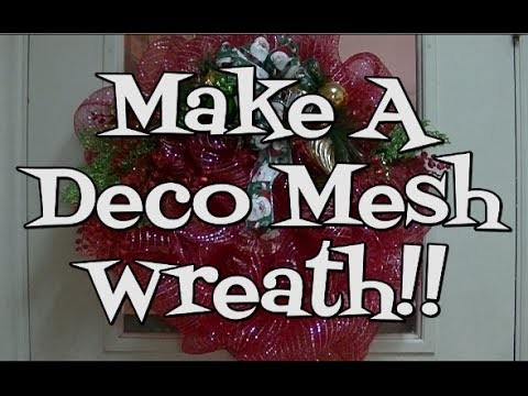 How to Make a Deco Mesh Wreath!! Noreen's Kitchen