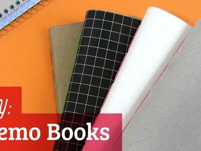 How to Make a Notebook: Saddle Stitch Memo Books