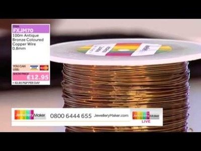 HOW TO MAKE JEWELLERY USING MEMORY WIRE - JewelleryMaker LIVE 12.03.2014
