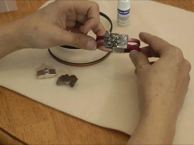 How to make the Flower Fan Leather Bracelet Tutorial - Beginner