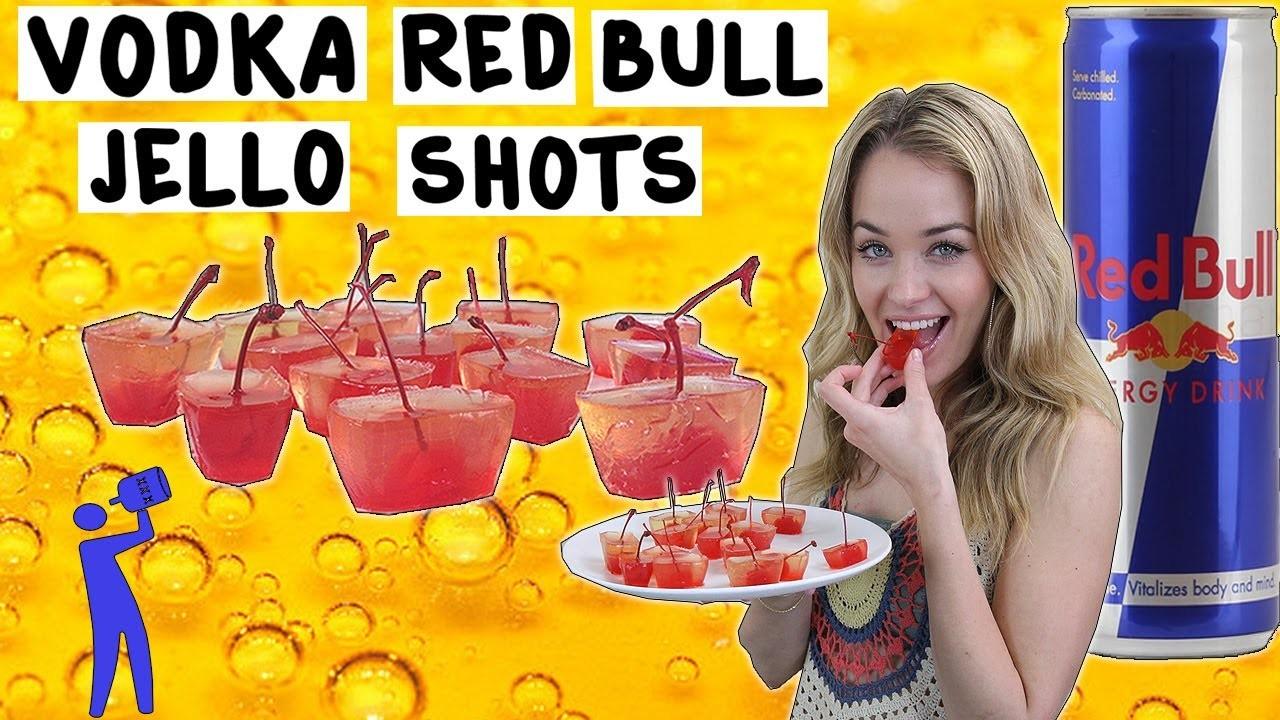 How to make Vodka Red Bull Jello Shots - Tipsy Bartender