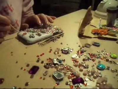 How to make your own bling Iphone case ( bling bling) - By Cathy Nguyen