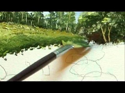 How  To Paint Grass - Part 5 Landscape Painting