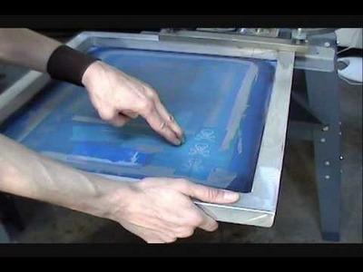 How To Screen Print: Sleeve Print Demo - Grey On Black